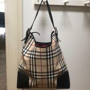 Burberry shoulder bucket bag